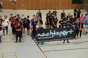 Gruppenfoto vor dem Beginn des 6. Marburger Mitternachtsturniers