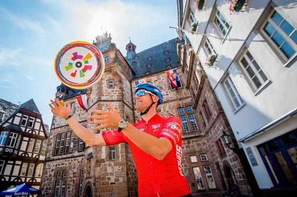 """Marburg ist am 30. August Etappenort der """"Deutschland Tour"""".©Gesellschaft zur Förderung des Radsports"""