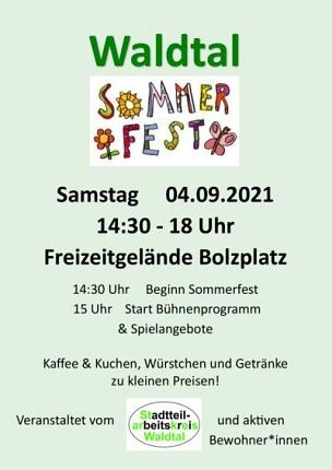 Flyer Sommerfest Waldtal©Arbeitskreis Soziale Brennpunkte Marburg e.V.