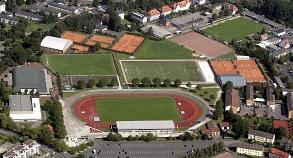 Georg-Gaßmann-Stadion aus der Vogelperspektive©Universitätsstadt Marburg