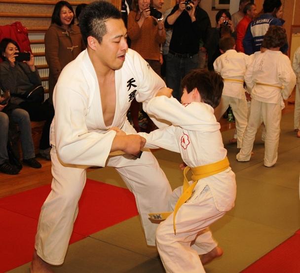 Japanischer Judo-Weltmeister beim Training©Foto Stadt Marburg, i.A. Heiko Krause