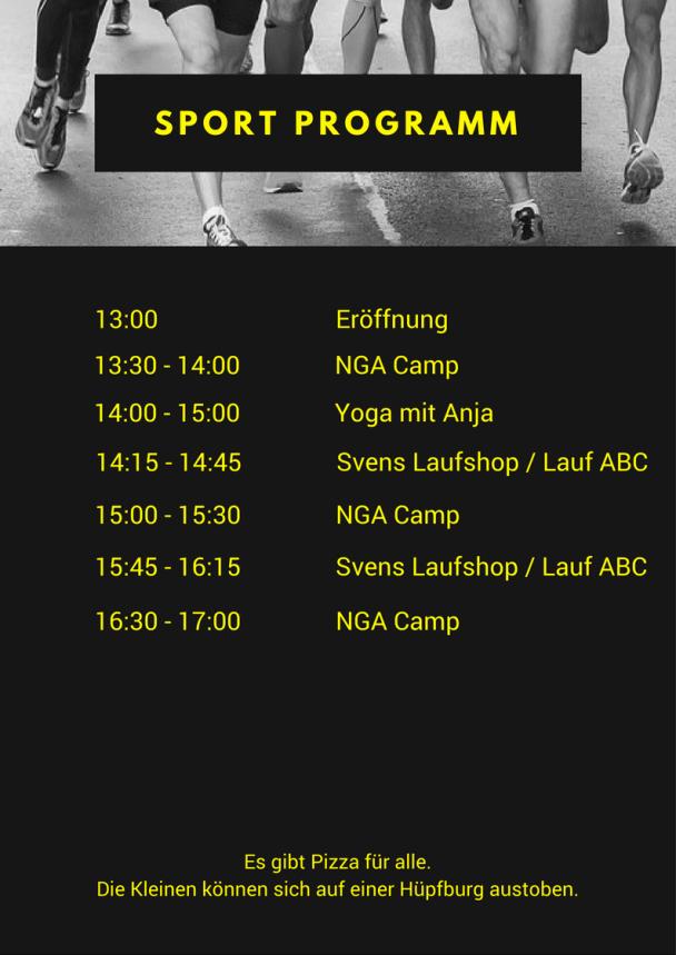 Programm, Urban Fitness Day©NGA Camp, Urban Fitness Day