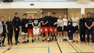 Siegerehrung 2. Marburger Basketball Mitternachtsturnier©Fachdienst Sport